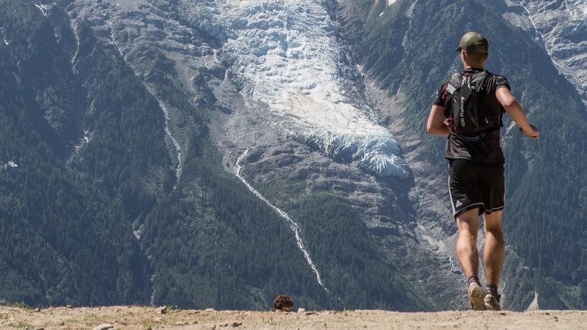 Sur le parcours de l'historiquecross du Mont-Blanc - Photo