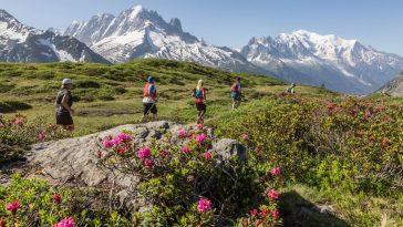 Sur le parcours du 42km du Marathon du Mont-Blanc 2019