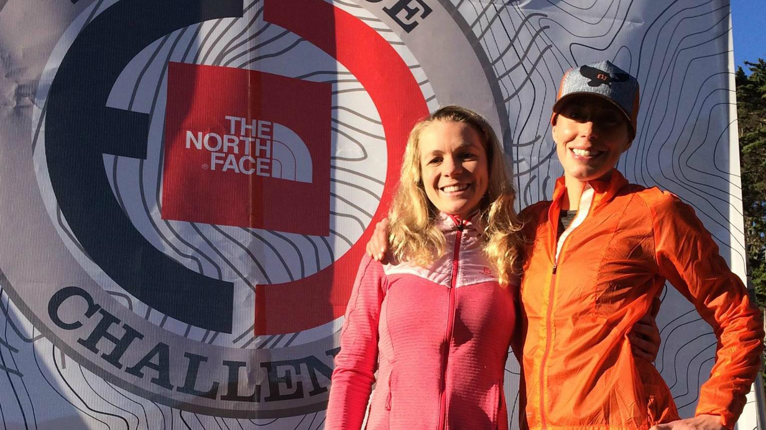 Sarah Bergeron-Larouche et son amie Annie Jean lors du North Face Endurance Challenge de San Francisco 2016 - Photo courtoisie