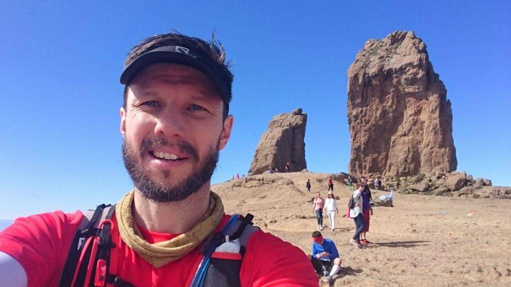 Martin Bherer s'est offert un selfie emblématique de la Transgrancanaria.