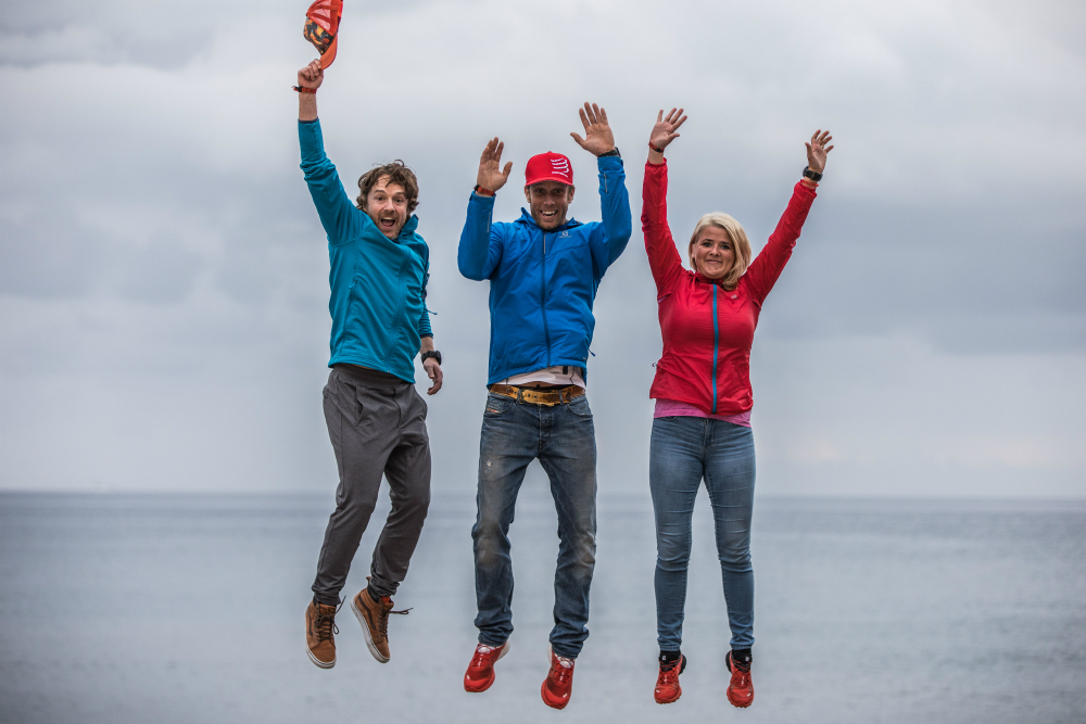 Sébastien Côté, Jessy Forgues et Vincent Houle avant l'Ultra-Trail de l'île de Madère / Photo : Alexis Berg