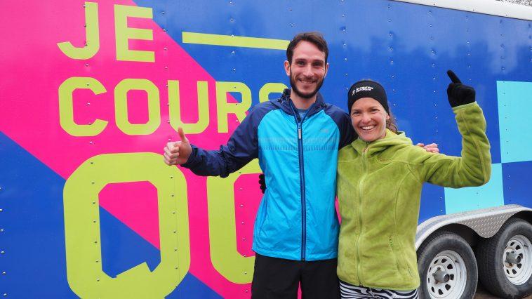 Alexandre Ricard et Mélanie Jacqmain au Trail du coureur des bois