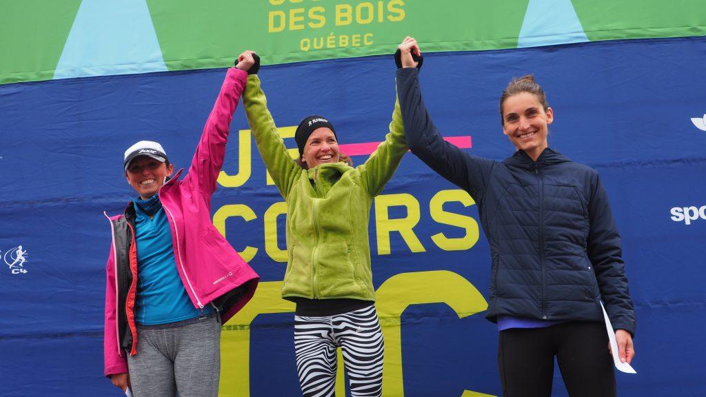 le podium femmes du 18 km du Trail du coureur des bois 2017