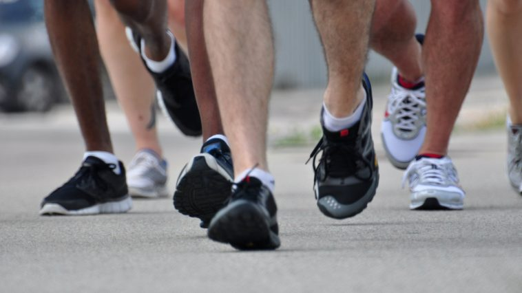 pieds course coureurs