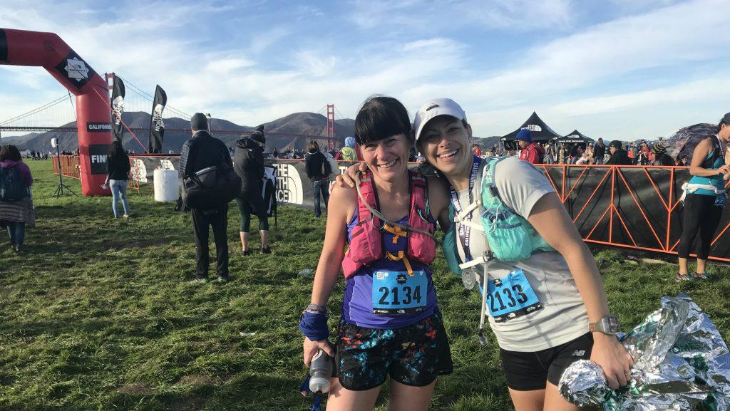 Photo: Anne-Marie et Stephanie a l'arrivé du 50Km