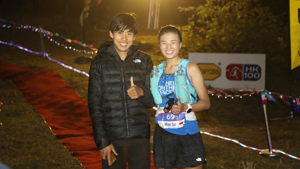 Les vainqueurs du HK100 2018, les Chinois Min Qi et Miao Yao / Photo : UTWT