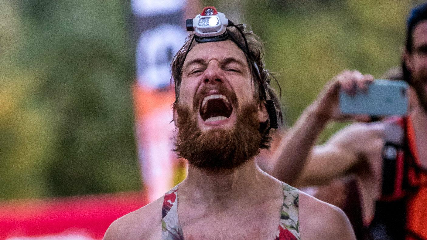 Pierre-Michel Arcand après avoir décroché sa deuxième place au 160 km du Bromont Ultra 2017 / Photo : Julien Hebert