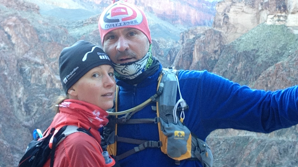 Kathleen et Richard, à l'entraînement dans le Grand Canyon en Arizona - Photo : Richard Souaid