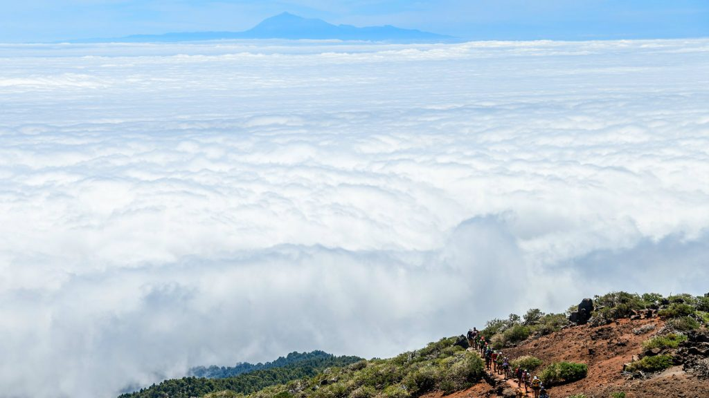 Au dessus des nuages, lors de la TransVulcania 2018 - Photo: CanoFotoSports