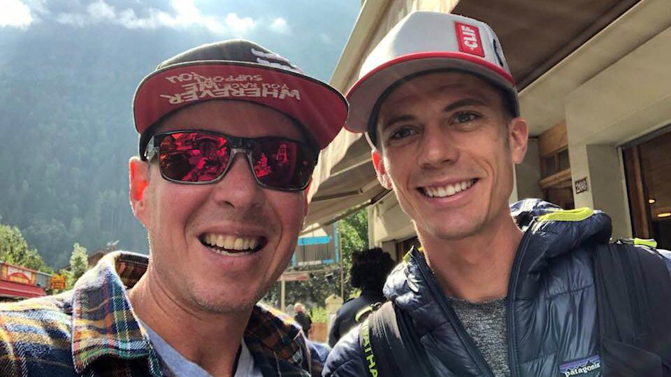 Alexandre Benoit a croisé dans Chamonix de la champion américain Jim Walmsley, l'une des favoris de l'UTMB - Photo: Alexandre Benoit