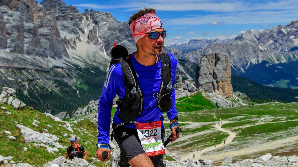 Jean-Philippe Prouxl lors du Lavaredo Ultra Trail 2018 - Photo Cano Fotosports