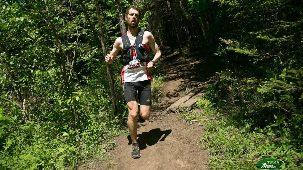 David Savard Gagnon sur le Trail de la Clinique du Coureur - Photo : Trail de la Clinique du Coureur