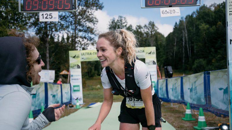 Sarah Bergeron-Larouche reine de l'UTHC 65 km en 2018 - Photo : UTHC