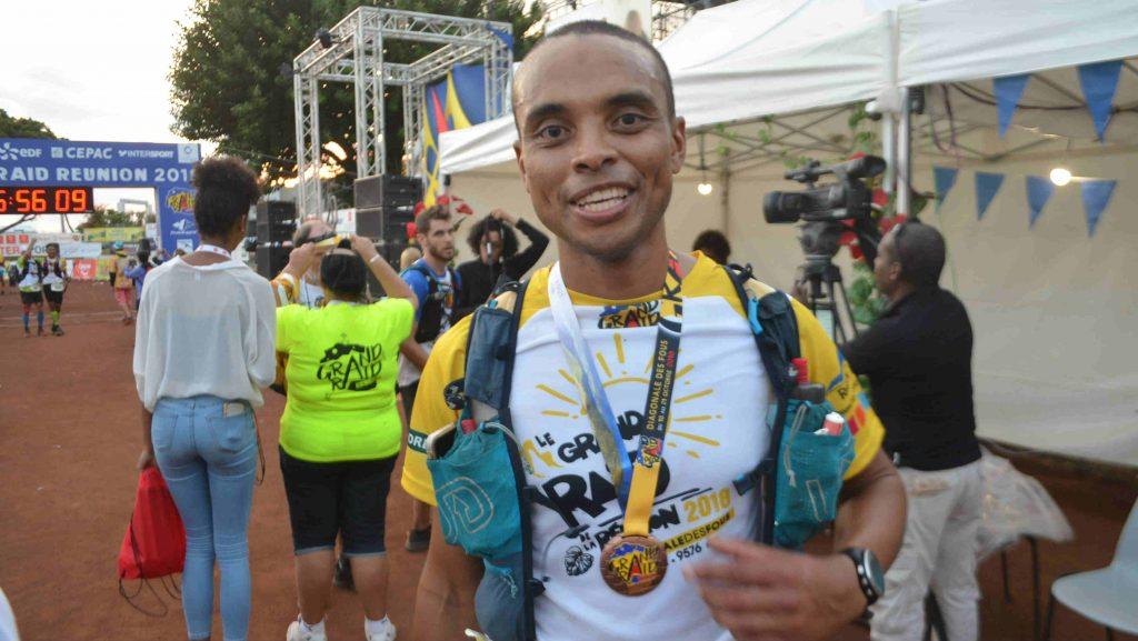 Tony Fichora après près de 56h de course - Photo courtoisie
