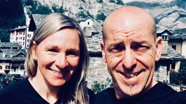 Le couple de coureurs amoureux de défis Martine Marois et Danny Landry - Photo courtoisie