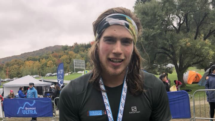 Elliot Cardin à la fin de sa course - Photo : courtoisie