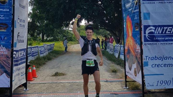 Mathieu Blanchard a remporté l'Ultra-Trail du Guatemala à l'automne 2018 - Photo courtoisie