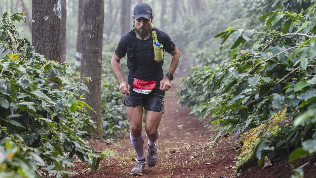Florent Bouguin dans la jungle indienne lors du Malnad Ultra 2018 - Photo : Malnad Ultra