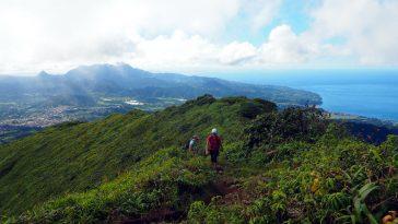 La vue depuis le mont Pelée