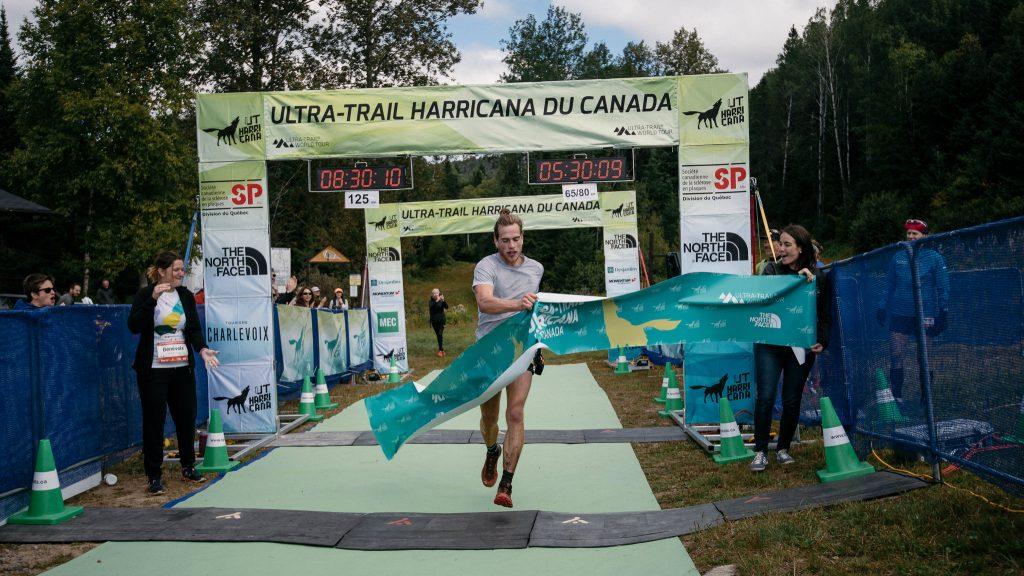 Elliot Cardin lors de sa victoire à l'Ultra-Trail Harricana en septembre - Photo : Francis Fontaine / Ultra-Trail Harricana