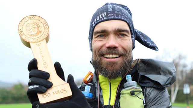 Florent bouguin a terminé 2e des 100 miles de l'Ultra-Trail Raw Ultra Wicklow Way en Irlande, en décembre 2018 - Photo : Florent Bouguin