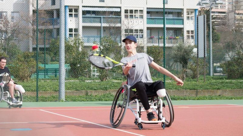 Lucas Liens, le frère de Mathieu Blanchard, à l'entraînement pendant sa rémission. Photo - Caty Liens