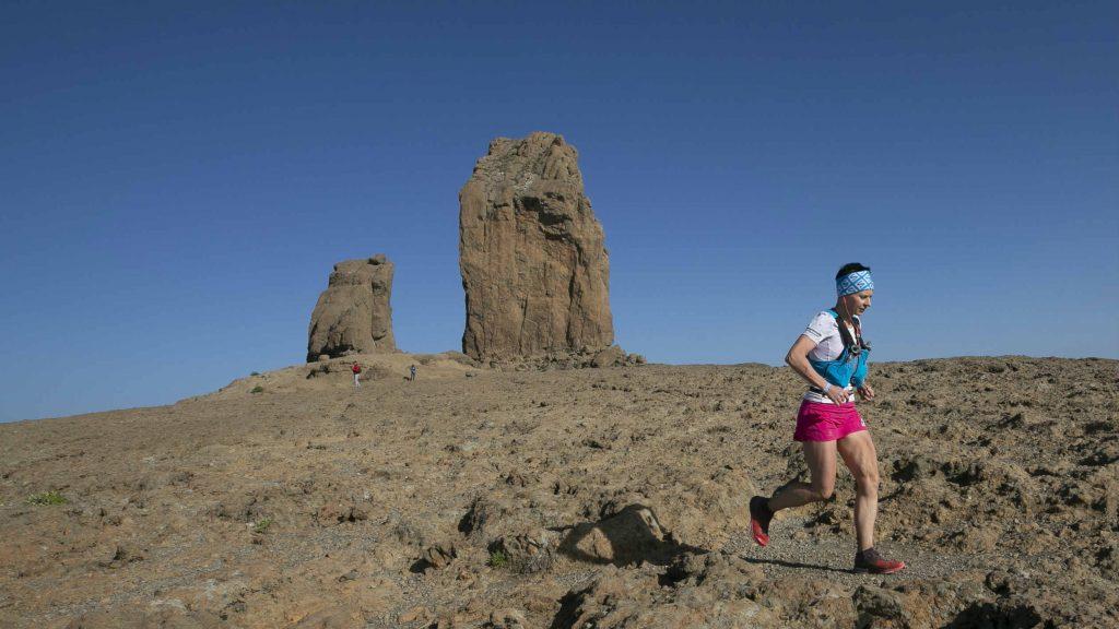 La Polonaise Magda Laczak lors de son passage à Roque Nublo - Photo : Transgrancanaria