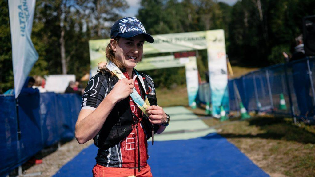 Claudine Soucie est arrivée 2e à l'Ultra-Trail Harricana en septembre 2018 - Photo : Ultra-Trail Harricana
