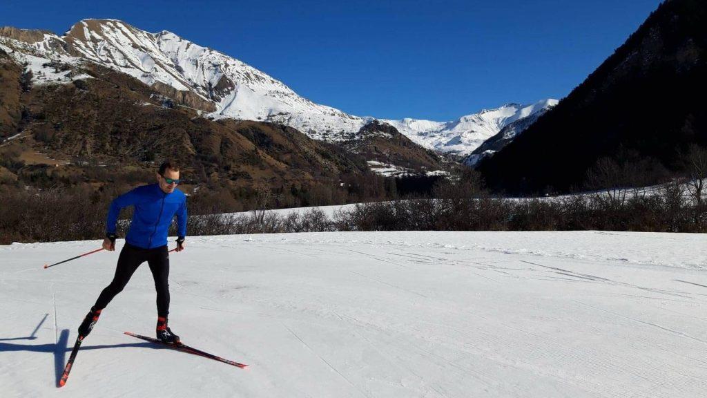 Stéphane Ricard lors d'un entraînement de ski de fond dans sa région dans les Hautes-Alpes - Photo : courtoisie
