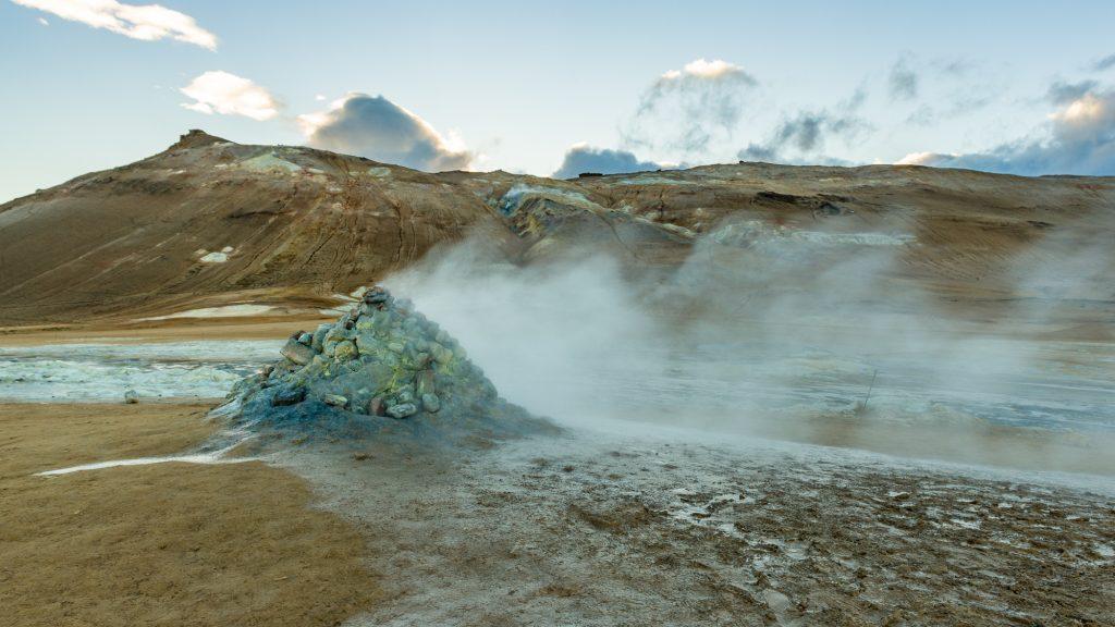 Paysages sulfureux près de Skútustaðahreppur, une municipalité du nord-est de l'Islande. Photo: Christian Dionne