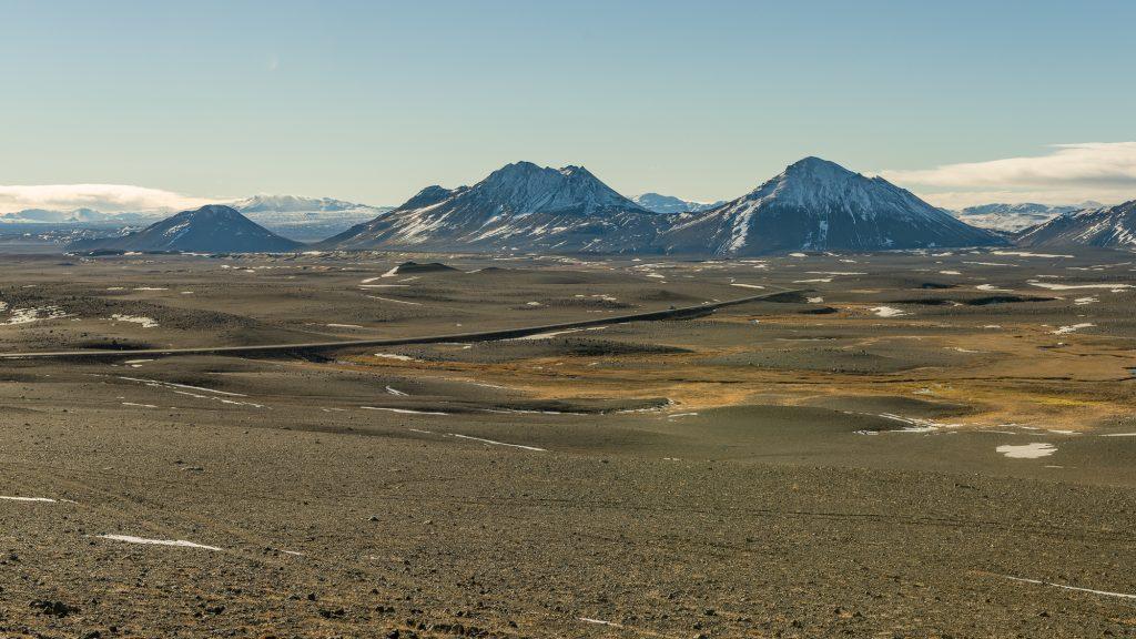 En route vers Fljótsdalshérað, une municipalité du nord-est de l'Islande. Journée de grands vents sur le plateau.Photo: Christian Dionne