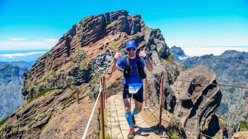 Francis Boutin lors de l'Ultra-Trail de Madère - Photo : courtoisie