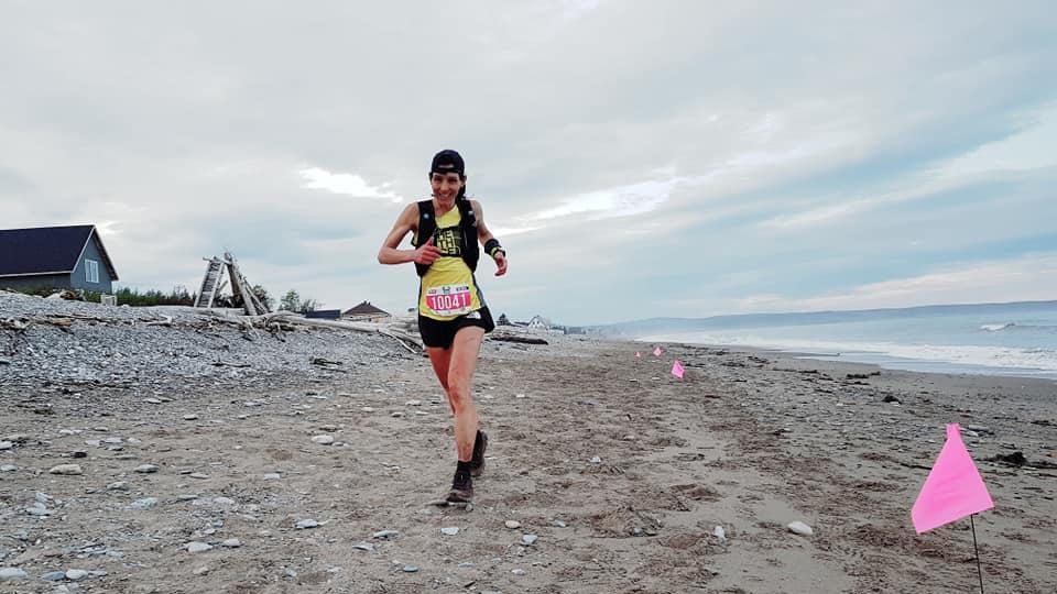 Anne Bouchard a terminé 2e sur le 160 km de la Gaspesia 100 - Photo : Adrien Seguret