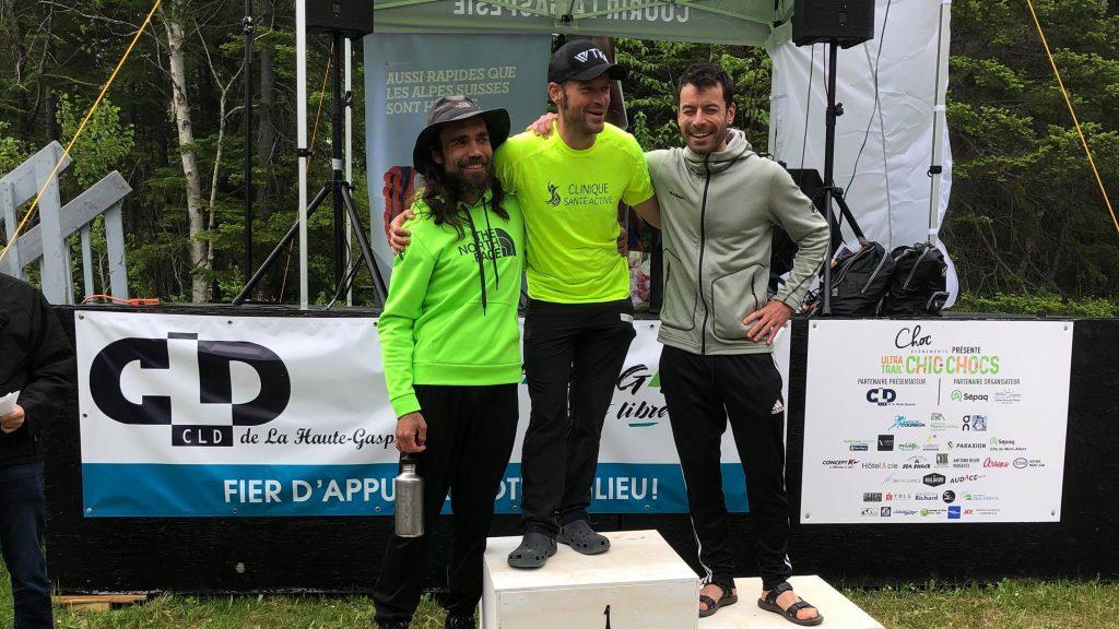 Les gagnants du 103 km de l'UTCC 2019 - Photo : Ultra-Trail des Chics-Chocs