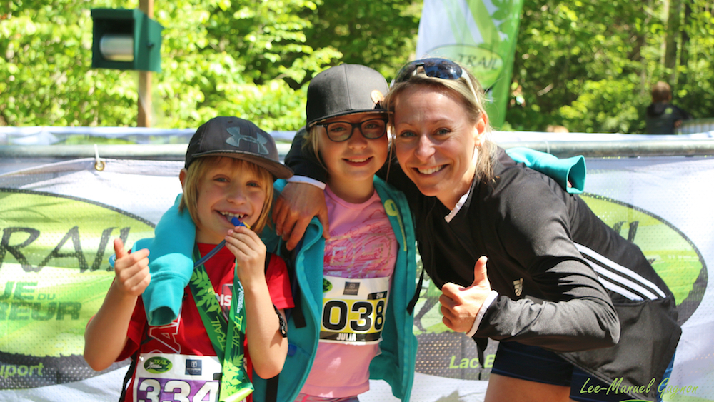 Plus de 600 enfants participent au Trail de la Clinique du Coureur - Photo : Lee-Manuel Gagnon