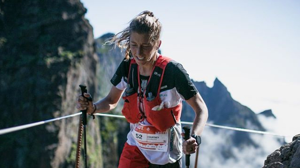 Courtney Dauwalter lors de l'Ultra-Trail Madeira - Photo : Instagram Courtney Dauwalter