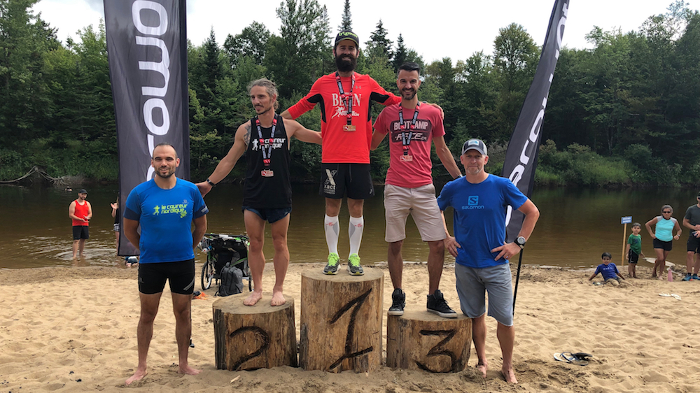 Le podium du Trans Vallée 37 km hommes - Photo : Vincent Champagne