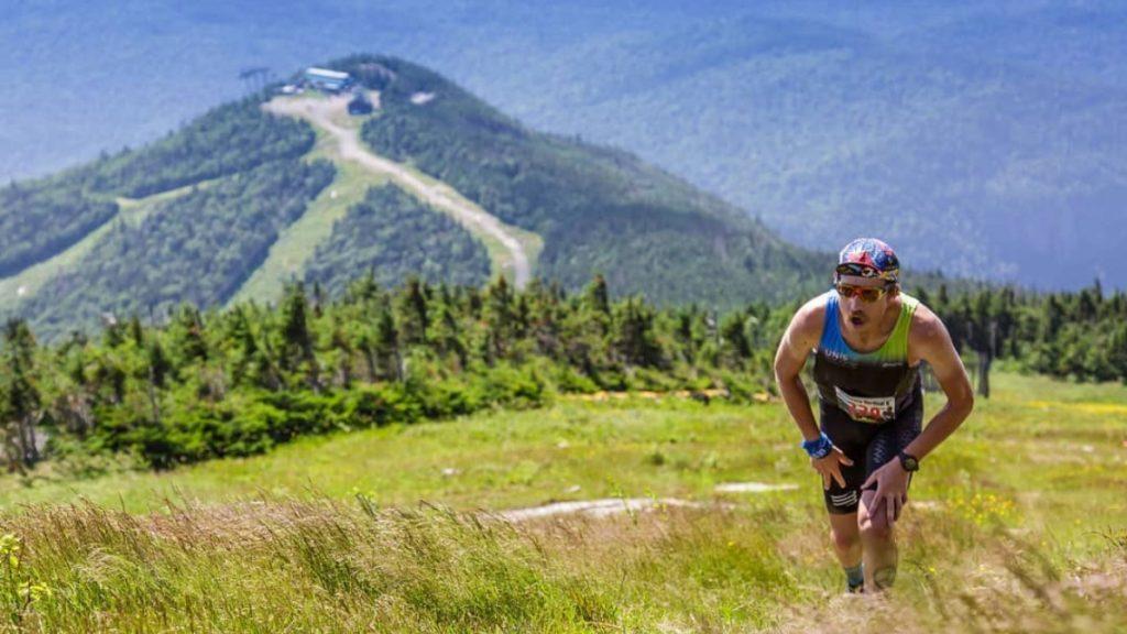 David Jeker a battu son record du kilomètre vertical cet été dans les Montagnes Blanches (42 min 28) - Photo courtoisie