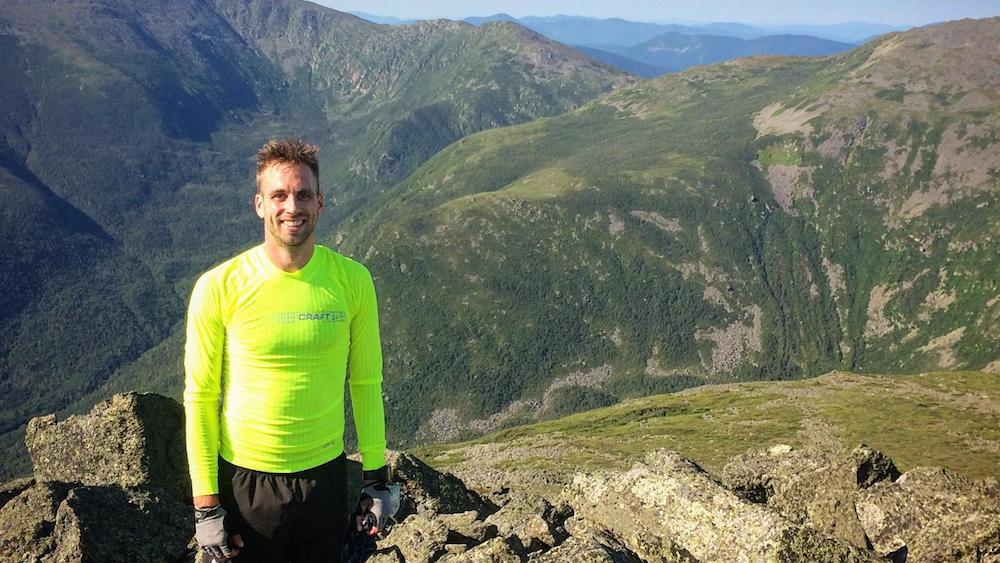 Alexandre Genois en entraînement dans les White Mountains - Photo : courtoisie