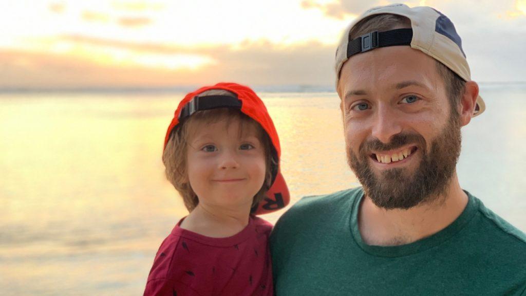 Marc-Antoine Rouillier et son petit garçon - Photo : Nicolas Fréret