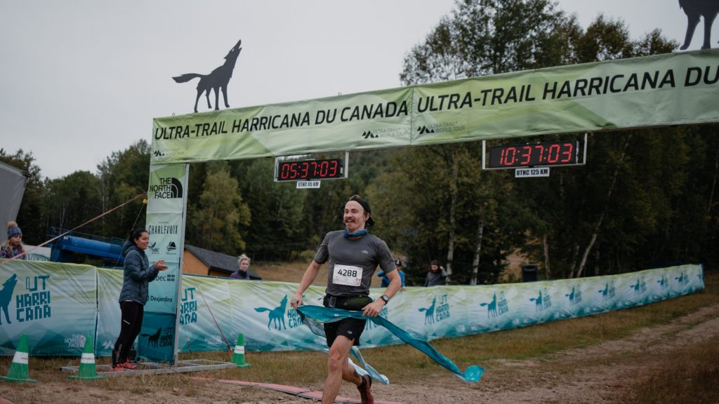 Rémi Poitras, gagnant du 42 km de l'Ultra-Trail Harricana - Photo : Ultra-Trail Harricana
