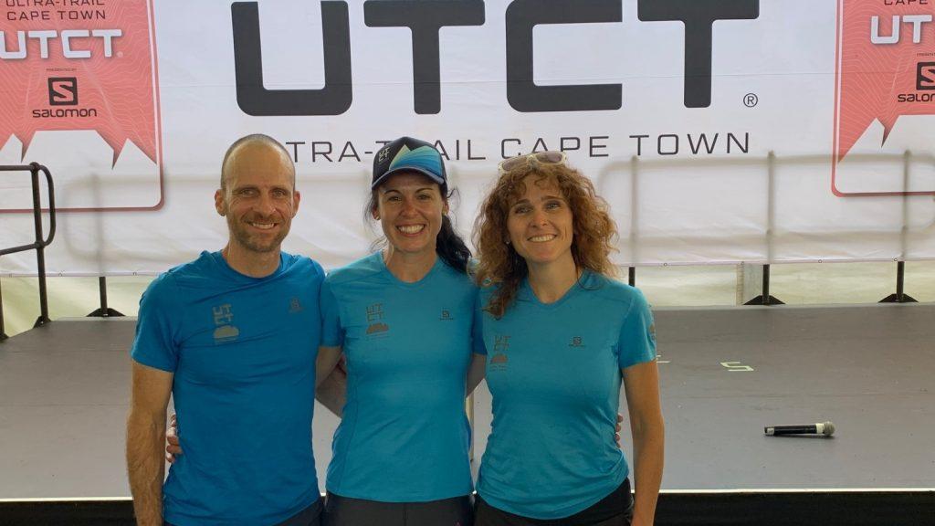 Les Québécois Francis Boutin (100 km), Elisabeth Petit (65 km) et Marline Côté (65 km) - Photo : Courtoisie