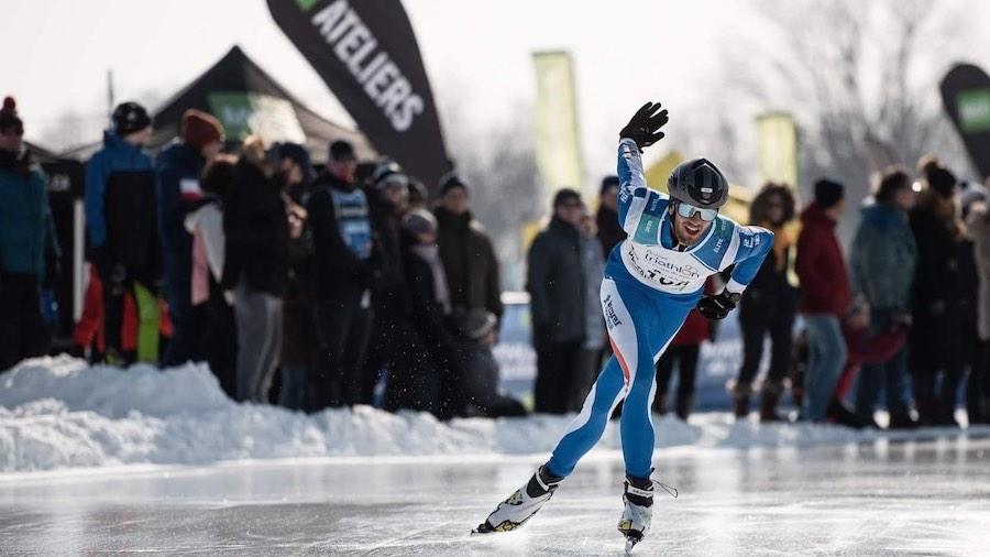 Christoper Busset patin de vitesse Pentathlon 2020