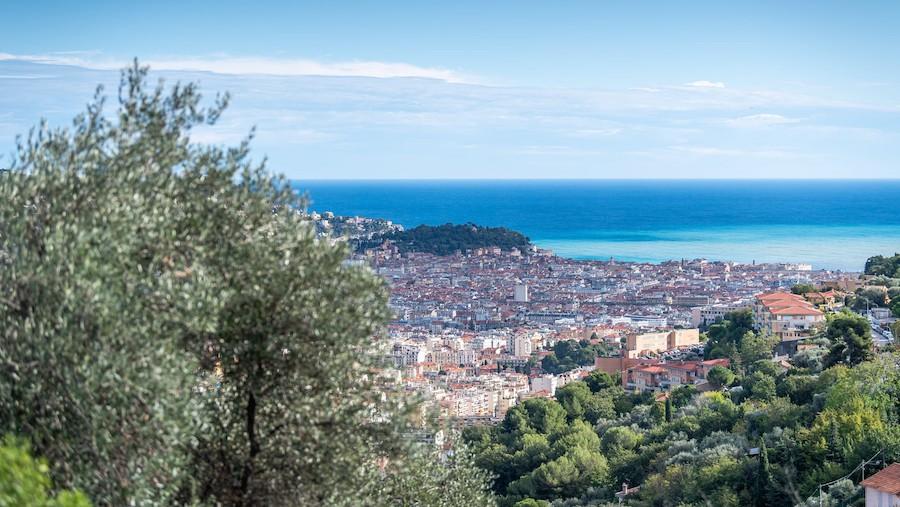 L'une des vues sur le tracé de l'enduro-trail de Grasse dans le cadre de l'événement Bigreen