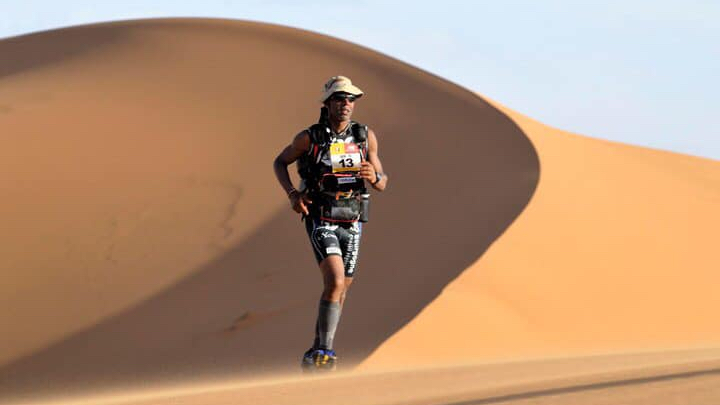 L'ultra-marathonien spécialiste du désert Karim Mosta
