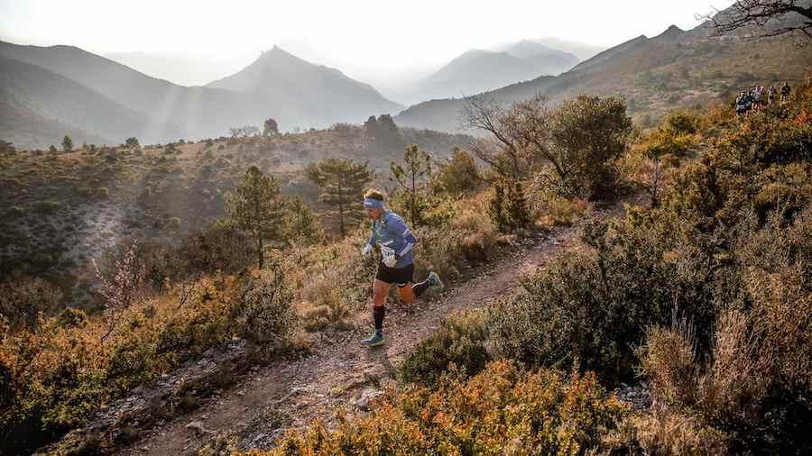 Nicolas Martin sur le Trail Drôme 2019, qu'il a remporté