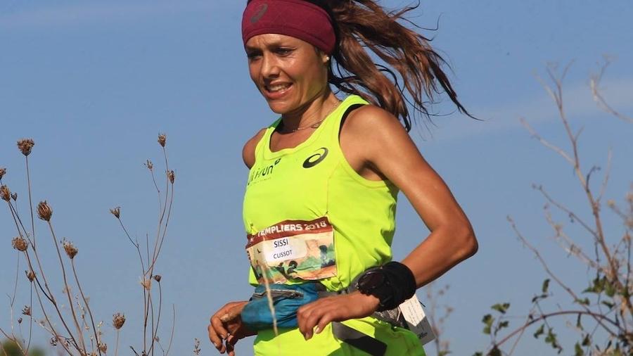 Sylvaine Cussot lors du Grand Trail des Templiers 2018, à Millau, où elle s'était classée 6e