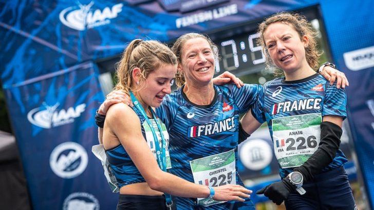 Anaïs Sabrié a remporté le titre lors du championnat du monde de course en montagne en 2019 avec Elise Poncet et Christel Dewalle.