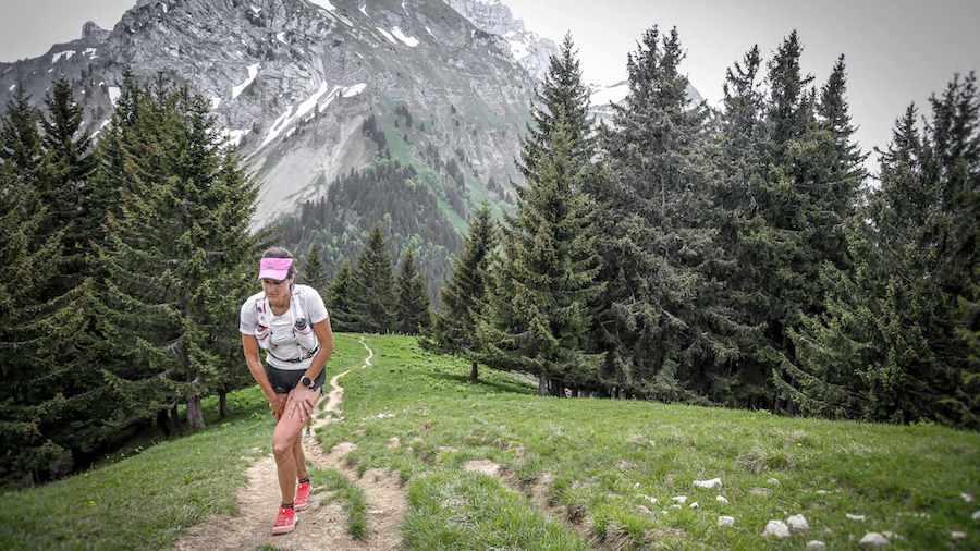 Camille Bruyas sur le Trail Hivernal des Coursières 2019, qu'elle a remporté