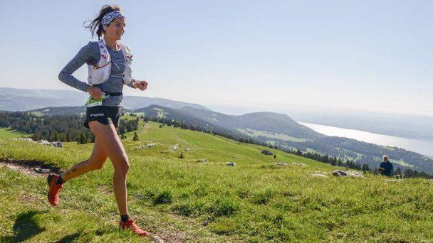 Camille Bruyas sur la Swiss Canyon Trail, qu'elle a remportée en 2009